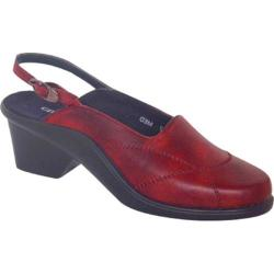 Women's Curvetures Alicia 643 Red Hand Rubbed