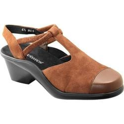 Women's Curvetures Sarah 673 Whiskey Suede/Nappa