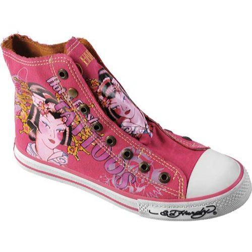 Women's Ed Hardy Highrise Sneakers Fuchsia
