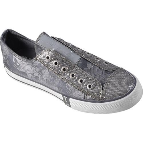 Women's Ed Hardy Lowrise Bling Sneakers Grey