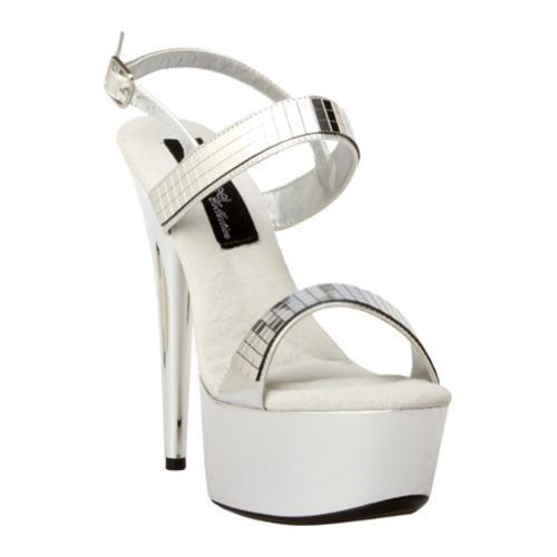 Women's Highest Heel Amber-111 Silver Metallic