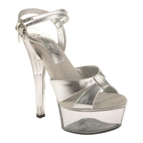Women's Highest Heel Christine Silver Metallic PU