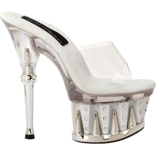 Women's Highest Heel Chantel-11 Clear/White Vinyl