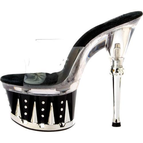 Women's Highest Heel Chantel-11 Clear/Black Vinyl