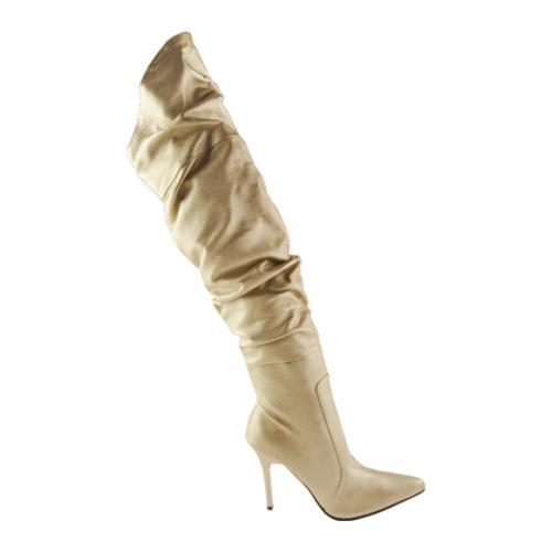 Women's Highest Heel Rampage-11 Gold Metallic PU