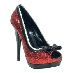 Women's Highest Heel Eternity-21 Red Glitter Polyurethane