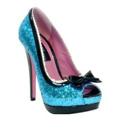 Women's Highest Heel Eternity-21 Turquoise Glitter Polyurethane