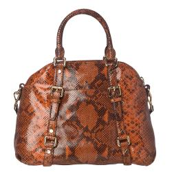 Michael Kors Bedford Embossed Leather Satchel