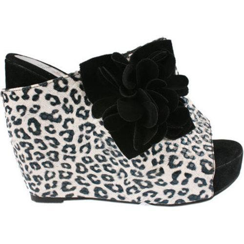 Women's L & C Flower-2 Black