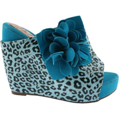 Women's L & C Flower-2 Blue