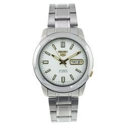 Seiko Men's SNKK09J1 5 Silver Watch