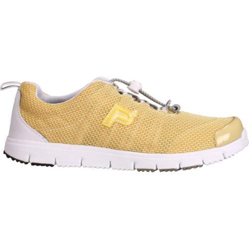 Women's Propet Travel Walker II Pale Yellow Mesh