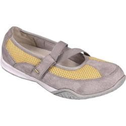 Women's Propet Zigzag Velvet Gray/Pale Yellow