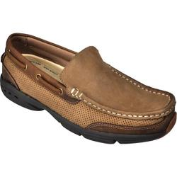 Men's Rugged Shark Aloha Johnny Oak/Dark Brown Crazy Horse Leather/Nubuck
