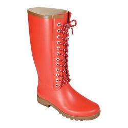 Women's Rugged Shark Raindears Red Waterproof
