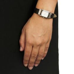 Monument Women's Silvertone Rectangle Case Analog Watch