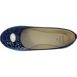 Women's Vecceli Italy BF-101 Blue Compressed Leather