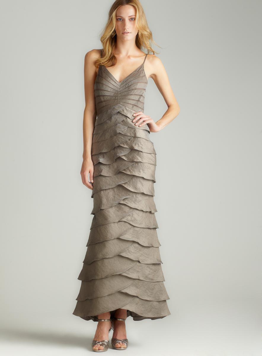 Adrianna Papell Long Shutter Gown W/ Bolero