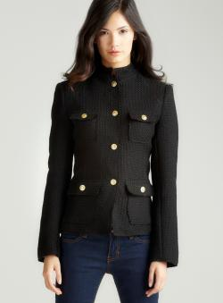 Max Studio Boucle Military Jacket