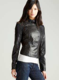 Max Studio Leatherette Jacket