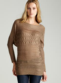 Max Studio Mohair Cable Knit Sweater