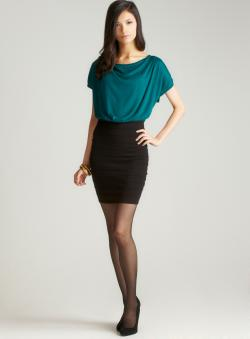 Studio M Ottoman Cowl Neck Knit Dress