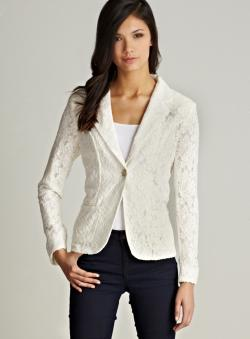 Wdny Lace One Button Jacket