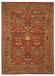 Hand-tufted Morris Orange Wool Rug (9'6 x 13'6)