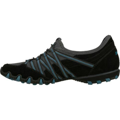 Women's Skechers Bikers Stereo Sound Black/Blue