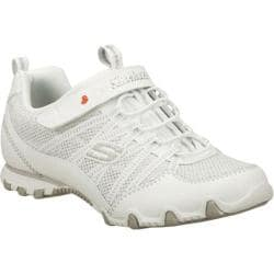 Girls' Skechers Bikers Star Brite White/Silver
