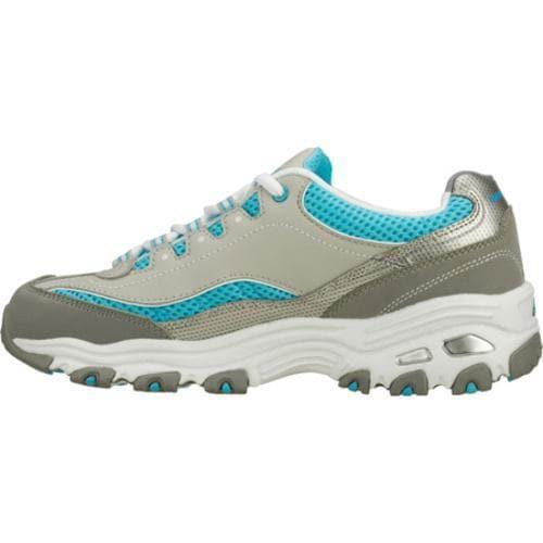 Women's Skechers D'Lites Double Diamond Gray/Blue