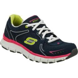 Women's Skechers Flex Fit Fly Navy/Green