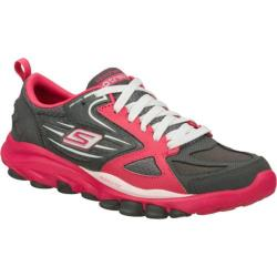 Women's Skechers GOtrain Gray/Pink