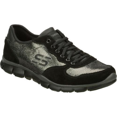 Women's Skechers Gratis Silver Screen Black/Silver
