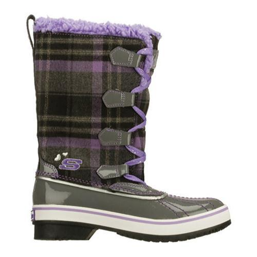 Girls' Skechers Highlanders Safari Glitz Charcoal/Purple