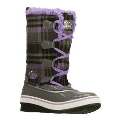 Girls' Skechers Highlanders Safari Glitz Charcoal/Purple