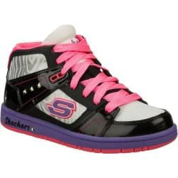 Girls' Skechers Sugarcanes Shimmies Black/Multi