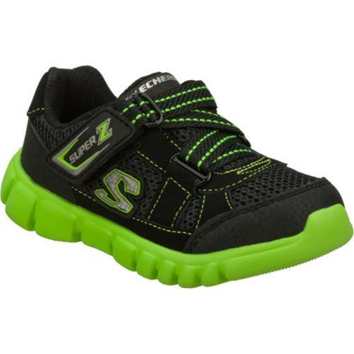Boys' Skechers Mini Flex Mischiefs Black/Green