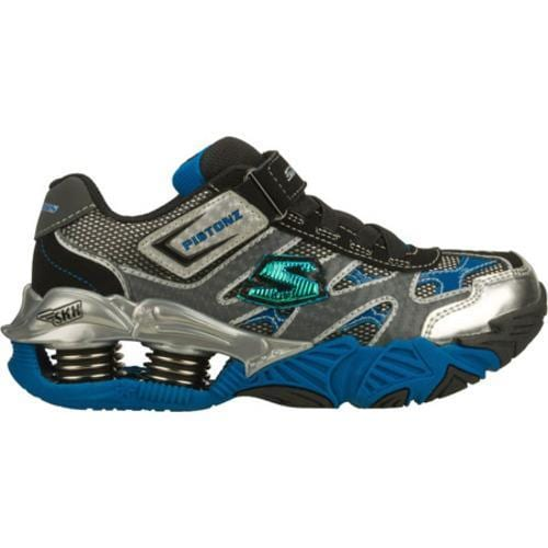 Boys' Skechers Mega Flex Pistonz Black/Gray