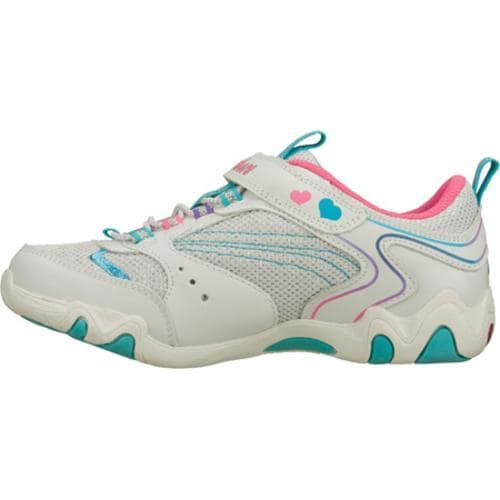 Girls' Skechers S Lights Fireflies White/Blue
