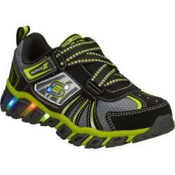 Boys' Skechers S Lights Pillar Black/Green