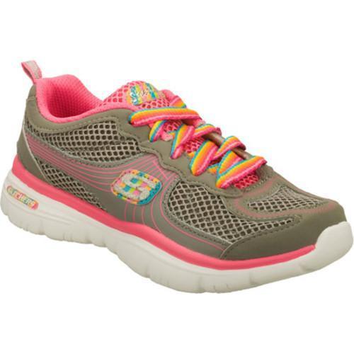 Girls' Skechers Sporty Shorty Lite Sprints Gray/Pink