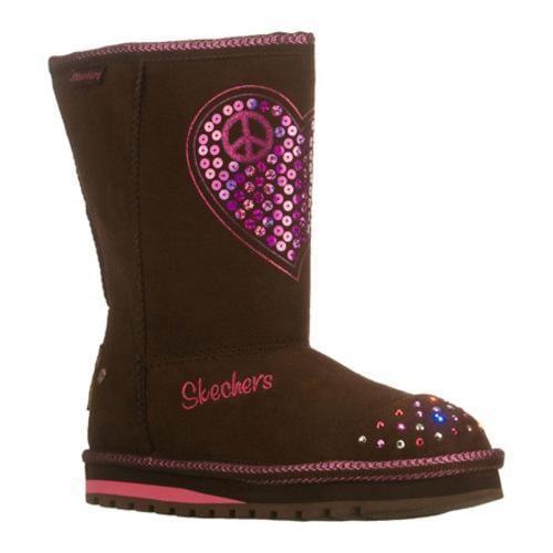 Girls' Skechers Twinkle Toes Keepsakes Flash N Fancy Brown/Pink