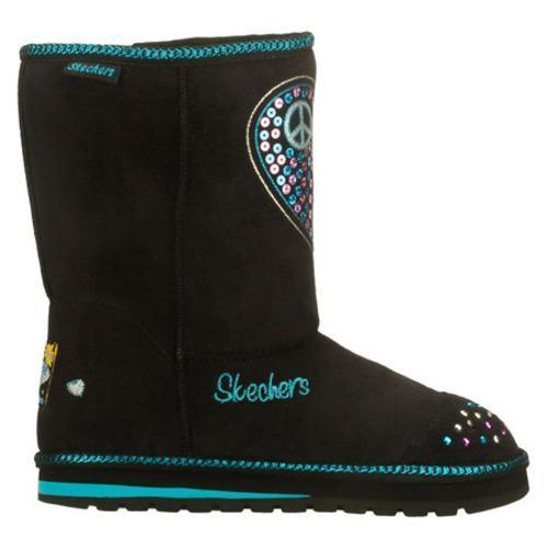Girls' Skechers Twinkle Toes Keepsakes Flash N Fancy Black/Blue