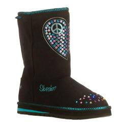 Girls' Skechers Twinkle Toes Keepsakes Flash N Fancy Black/Blue