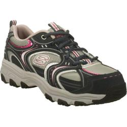 Women's Skechers Work D'Lites S R Charmed Navy/Silver