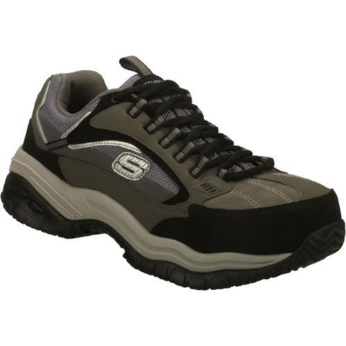 Men's Skechers Work Soft Stride Compo Gray/Black