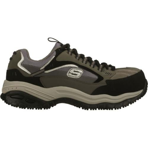 Men's Skechers Work Soft Stride Compo Gray/Black