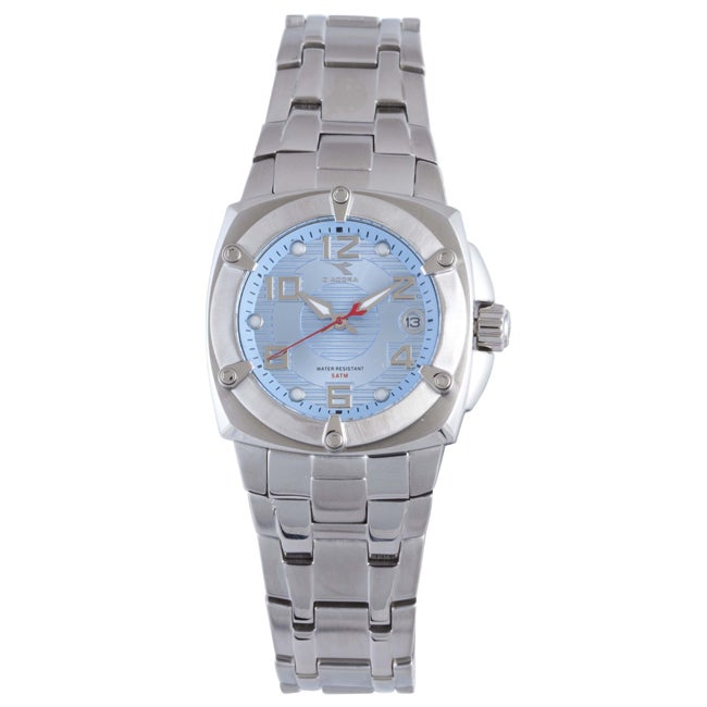 Diadora Women's Light Blue Dial Stainless Steel Date Watch