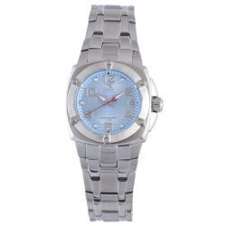 Diadora Women's Light Blue Dial Stainless Steel Date Watch